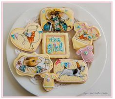 Vera the Mouse themed cookies by Sugar Rush Custom Cookies