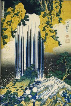 Hokusai les cascades de Yoro