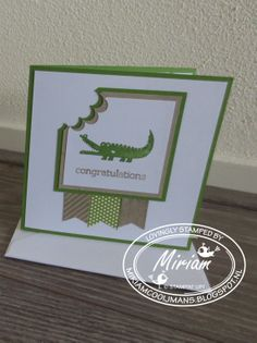 stampin up, zoo babies, banner blast, banner punch
