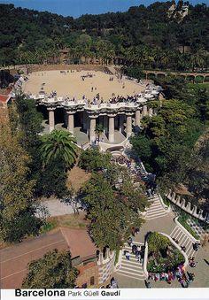 Park Güell, Vista General, Barcelona (For Trade)Spain Barcelona Architecture, Modern Architecture, Parc Guell, Barcelona Catalonia, Antoni Gaudi, Barcelona Travel, Spain And Portugal, Spain Travel, Beautiful Places