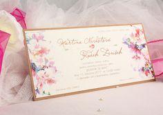 Květinové floral svatební oznámení SK88
