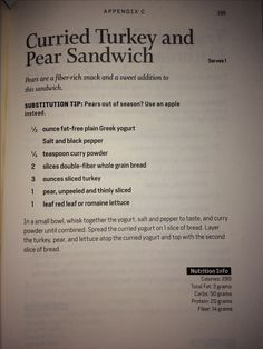 Curried Turkey Pear Sandwich - Body Reset Recipes