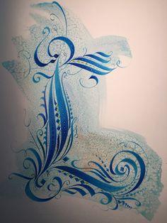 """""""L"""" Original Design Calligraphic Cadel Capital"""