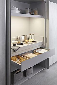 Sistema de apertura electrónica Kitchen Cupboard Shelves, Kitchen Pantry, New Kitchen, Kitchen Storage, Kitchen Dining, Open Plan Kitchen Living Room, Home Decor Kitchen, Kitchen Furniture, Kitchen Interior