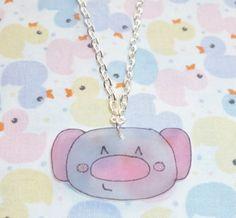 Kawaii Koala Necklace  Pink and Grey by NiNEFRUiTSPiE on Etsy, £2.50