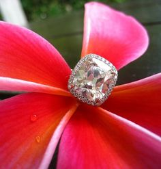 Why not??? 4 carat cushion cut diamond ring