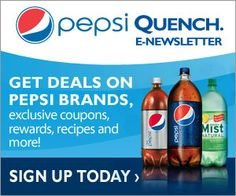 Pepsi Newsletter = Exclusive Coupons, Recipes, Rewards and More! November 6, 2013 by Spend With Pennies K Leave a Comment Pepsi Newsletter = Exclusive Coupons, Recipes, Rewards and More!