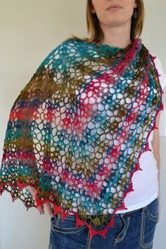 Crochet in Color: My Noro Shawl