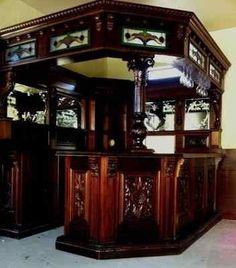 Victorian English Irish Sty Corner Pub Bar Furniture Antique Mahogany Left Hand | eBay