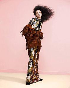 Gao Jie by Matt Hui for Marie Claire HK Oct 2015 wearing Marc Jacobs Fall '15