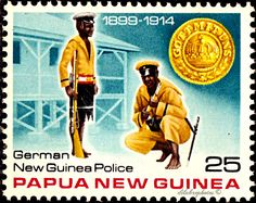 Papua New Guinea.  CONSTABULARY & BADGE.  GERMAN NEW GUINEA POLICE.  Scott 489 A110, Issued 1978 Oct 26, Photo.  Perf. 14 1/2 x 14,  25. /ldb.