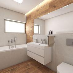Moderní koupelna BUENO - vizualizace Bathroom Inspiration, Alcove, Bathroom Lighting, Bathtub, Mirror, Home Decor, Furniture, Houses, Full Bath