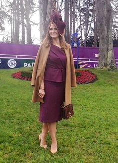 Pic: EVOKE.IE Race Day Fashion, Celebrity Gossip, Ladies Day, Beautiful Women, Racing, Female, Lady, Celebrities, Coat