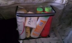 Packing for the beach. You know those zipper bags sheet sets come in?  --- GENIUS!