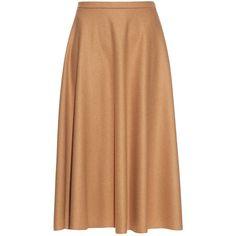 Max Mara Studio Pontile skirt (1.140 BRL) ❤ liked on Polyvore featuring skirts, юбки, max mara, camel, high waisted knee length skirt, maxmara, jersey skirt, high rise skirts and camel skirt