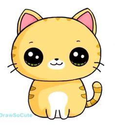 Cat kawaii cat dibujo in 2019 desenhos kawaii, ka Kawaii Anime, Griffonnages Kawaii, Chat Kawaii, Cute Kawaii Animals, Cute Animal Drawings Kawaii, Cute Easy Drawings, Kawaii Illustration, Doodles Kawaii, Cat Clipart