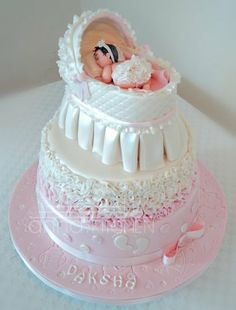 Baby girl shower cake ~ just perfect!