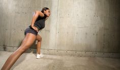 3 Easy Wall Workouts For Toned Legs & Thighs - BlackDoctor Wall Workout, Leg Thigh, Easy Wall, African American History, Going To The Gym, Stay Fit, Health And Beauty, Healthy Lifestyle, Thighs