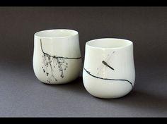 Gobelets de porcelaine : Nadège Richard