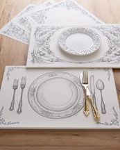 Paper Place Mat Sets - fun idea for the rehearsal dinner