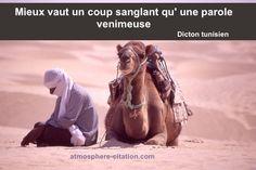 Un coup sanglant vaut mieux qu'une parole venimeuse – Dicton Tunisien
