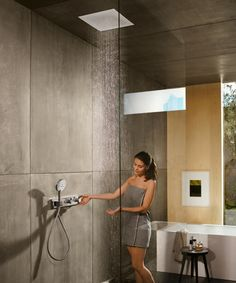 Experience the beauty of water with a hansgrohe shower and transform your shower with one of our overhead shower or shower systems. Shower Systems, Contemporary Bathrooms, House Goals, Bathroom Renovations, New Room, Shower Heads, Home Deco, Interior Decorating, House Design