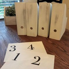 How to Hack Ikea Magazine Boxes. What a great idea. So easy by printing numbers of your computer to use as a template. Step by step instructions. The perfect storage solution for small space, office, or kid's room. Love the rustic chic, farmhouse look. Small Office Storage, Small Space Office, Small Spaces, Farmhouse Office Storage, Kitchen Storage, Urban Cottage, Cottage Living, Urban Farmhouse, Farmhouse Chic