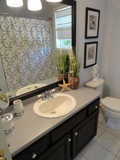 Painting Bathroom Oak Cabinets my golden oak master bath remodel. darkened vanity with glaze, new