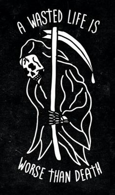 Grim reaper I've wasted my whole entire life so come and get me please. Tattoo Drawings, Art Drawings, Tatuagem Old School, Skeleton Art, Neue Tattoos, Future Tattoos, Skull Art, Traditional Tattoo, Oeuvre D'art