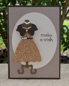 Christie's Creative Corner: Dress Up Like A Golden Girl Dress Up Framelits, Stampin Up, North West Sydney, Card making class