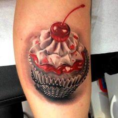 Muffin Tattoo with cherry   #Tattoo, #Tattooed, #Tattoos