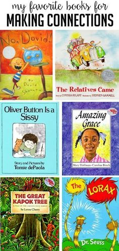 I thought I would share a few of my favorite books for teaching text-to-self connections, text-to-text connections and text-to-world connections: When students are able to make connections with a… Reading Skills, Teaching Reading, Reading Books, Teaching Ideas, Teaching Math, Reading Lists, Children's Books, Text To Self Connection, Text To World