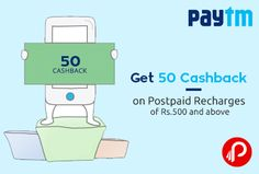 @paytm #offers 50 #Cashback on #Postpaid #Recharges of Rs.500 and above. Valid till 22nd October. Valid for both Prepaid and Postpaid Users.Valid only for vodafone users only Coupon Code : VODA500  http://www.paisebachaoindia.com/get-50-cashback-on-postpaid-recharges-of-rs-500-and-above-paytm/