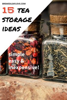 Great tea storage and tea organization ideas so you can DIY your tea cupboard, pantry or drawer.  Ideas for how to store loose tea, tea bags and boxes of tea.  Dollar store and ikea hacks will help you if you want to know how to organize your tea.