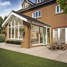 oak Garden room Garden R - gardenroom House Extension Plans, House Extension Design, Extension Designs, Rear Extension, House Design, Extension Ideas, Bungalow Extensions, Garden Room Extensions, House Extensions