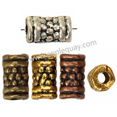 Zinc Alloy Tube Beads,Plated,Cadmium And Lead Free,Various Color For Choice,Approx 3.5*6.5mm,Hole:Approx 1.5mm,Sold By Bags,No 001872