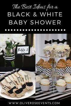 Blog — Olive & Rose Events, black and white baby shower