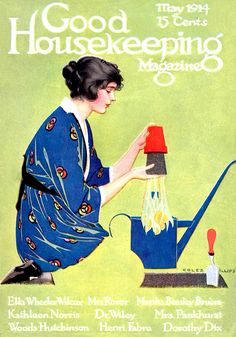 May 1914 - Good Housekeeping: Coles Phillips cover art
