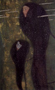 """Gustav Klimt, """"Nixen (Silberfische),"""" 1901-02"""