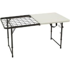 Portable BBQ Grilling  Picnic Table Outdoor Camping Fold-in-Half Camping Table #OzarkTrail