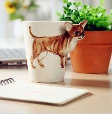 Resultado de imagen para tazas con decoracion de animales y relieve