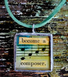 Become a Composer Handpainted Collaged by SplintersandWeeds, $15.00