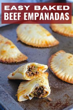 These are little savory pastry pockets of love! These Ground Beef Empanadas recipe is the absolute easiest way to make these babies at home! Flaky, buttery pastry on the outside with a savory, smokey, salty ground beef filling. You can make them all ahead and freeze so you can later bake them off one by one as a snack or all at once for dinner or a party! And incredibly easy to make with only a few steps. #empanadarecipe #empanadas #groundbeefrecipes Meals To Make With Ground Beef, Ground Beef Recipes Easy, Vegan Recipes Easy, Mexican Food Recipes, Dinner Recipes, Baked Empanadas, Empanadas Recipe, Ready Made Pie Crust, Easy Pie Crust