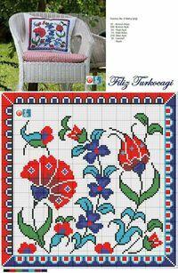 Uzun zamandır beklediğinizi bildiğim, desen çizimi Sn.Mehm Cross Stitch Pillow, Cross Stitch Bird, Cross Stitch Flowers, Cross Stitch Charts, Cross Stitching, Cross Stitch Patterns, Hand Embroidery, Embroidery Patterns, Cross Stitch Embroidery
