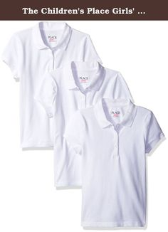 The Children's Place Girls' Little Short Sleeve Basic Polo (Pack of 3), White, Small/5-6. A uniform polo 3 pack to get you through a week of school.