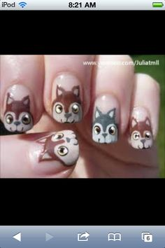 Cool wolf nails!!! Wanna try them.
