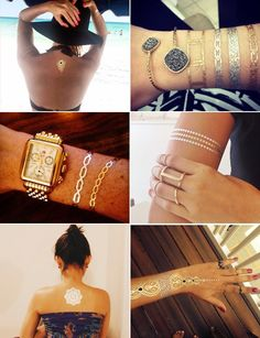 Pin for Later: Real People Show Off the Chicest Ways to Wear Flash Tattoos
