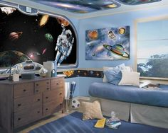 Space Vistas 12-inch Mural Style Border - http://www.theboysdepot.com/space-vistas-12-inch-mural-style-border.html