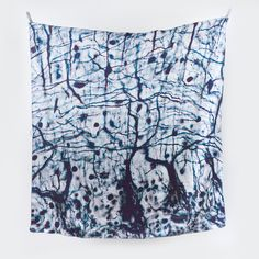 Image of Large Histology Silk Scarf - Brain