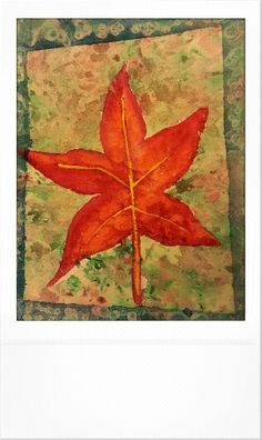 Liquid  Amber Leaf Watercolor Painted by Jenny Yandell